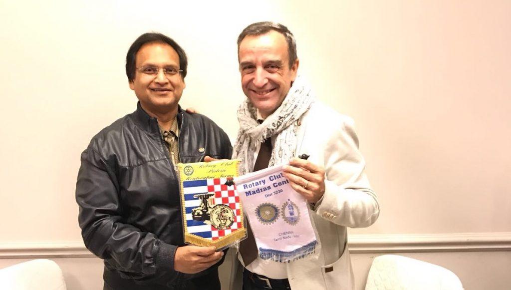 Incontro con un rotariano proveniente dall'India